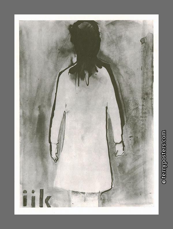 Girl (ijk): ink and aquarelle:23,5 x 14,1 cm; 1967