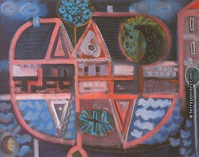 Landskape with pond: oil, screen 100x120 cm; 1958