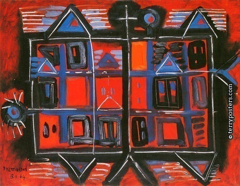 Easter landskape: oil, screen 70x90 cm; 1964