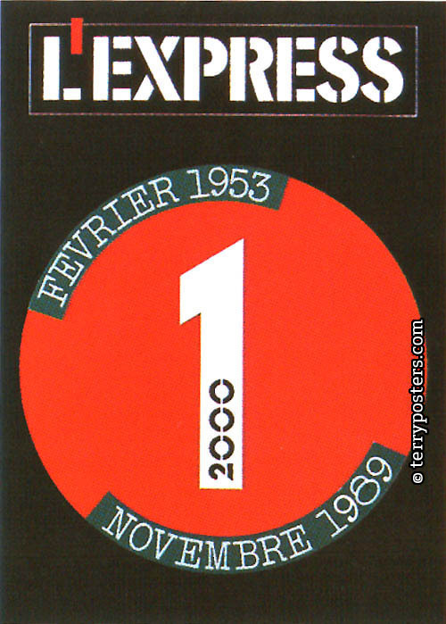 L´Express, Février 1953: cover layout; 1989