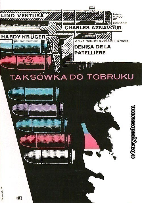 Taksowka do Tobruku: Movie poster; 1963
