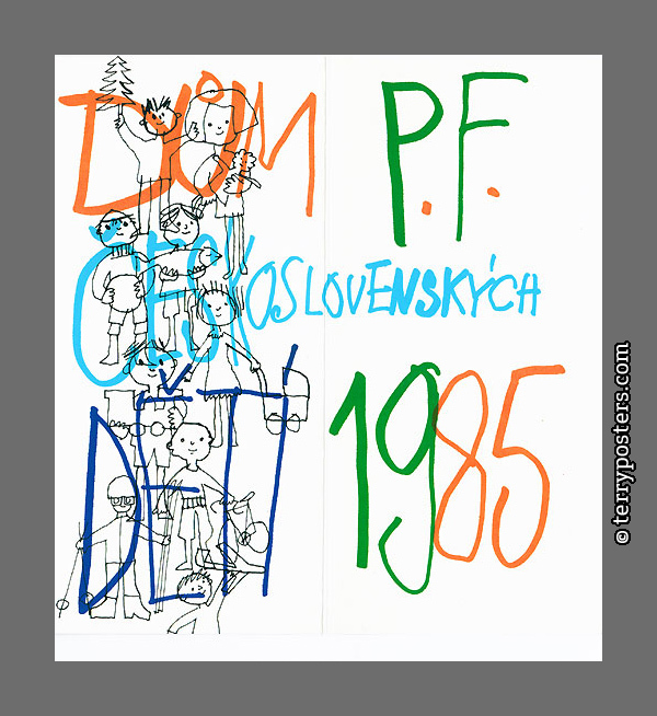PF 1985 - House of Czechoslovak Children; 21 x 20 cm