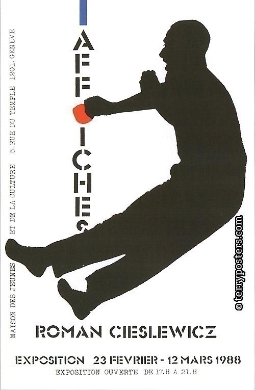 Roman Cieslewicz, affiches, exposition,Geneve: Exhibition poster; 1988