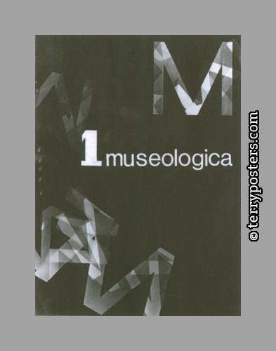 Design proposal for a cover of Museologica magazine; 1968