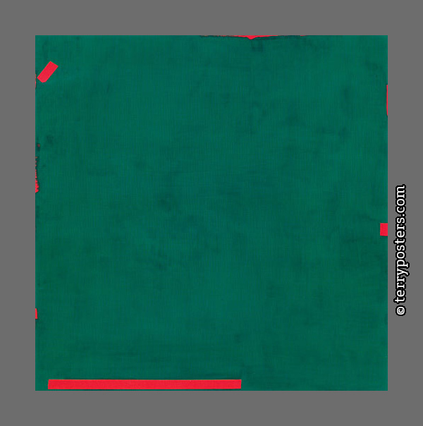 Green Painting: acrylic paint, canvas, 130 x 130 cm; 1997